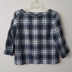 Madewell plaid black and white too size xxs